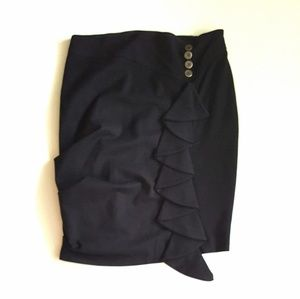 Anthropologie Eva Franco Ruffle Skirt Sz 2